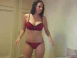 F60 Big Boobs Try On Underwear
