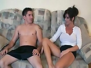 Very sexy mom and boy