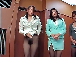 Pantyhose Office Glasses Japanese Milf Milf Asian Milf Ass