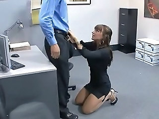 Lily Paige in the office.