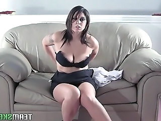 Shesnew Tattoo big tits brunette Roxsy strip tease solo girl