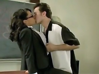 Teacher Glasses Kissing Milf Ass