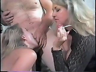 Hot Matures Tag team Smoking Blowjob