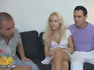 Cuckold Blonde Girlfriend Brother