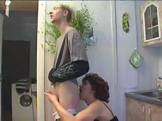 Russian mom and son playing in kitchen  Sex Tubes