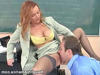 School Licking Clothed Milf Stockings Pussy Licking School Teacher