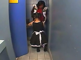Toilet Maid Uniform Toilet Asian