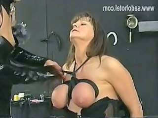 Slave Bondage Fetish Big Tits Mask Whip