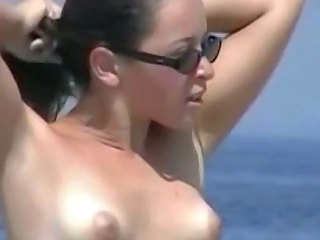 Beach Nudist Brunette Milf Ass Nudist Beach