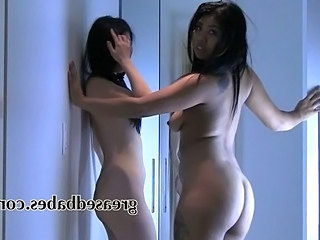 Sexy Asian Babes Strip Away loathe proper of their Thongs