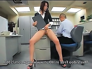 Japanese tryst girl gets fucked by four