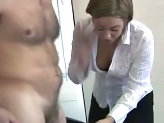 Office cfnm sexy bitches drag inflate on cock