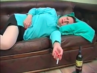 Sleeping Smoking Mature Drunk Mature