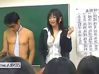 Subtitled Clothed Japanese Teacher On Nude School Day