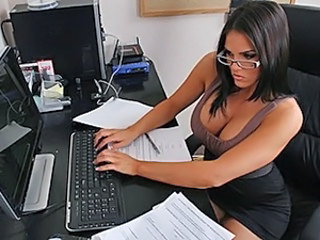 Office Brunette Glasses Cute Ass Milf Ass Milf Office