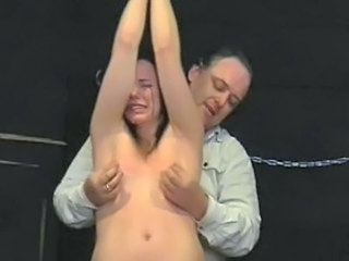 Teen slavegirl Lyarah tied and tormented to tears using electro shock...