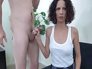 Handjob  Crazy Wife Milf