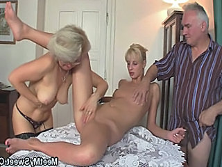 Video from: tnaflix | His GF and parents in hot threesome