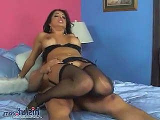 Francesca analed in black lingerie
