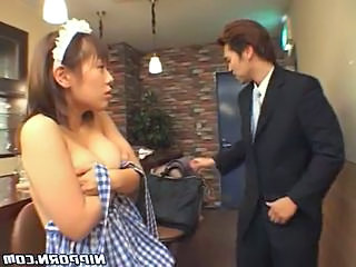 Japanese Serving Girl Gets Abused And Used Hard In This Clip