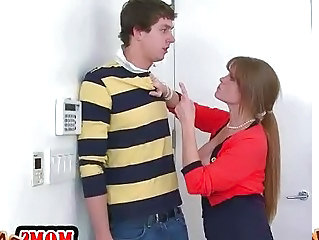 Video from: sunporno | Teen and stepmom share on a hard dick