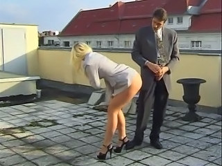 Fuckings her ass and nylons