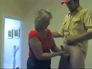 Mature Wife Jerking His Nephew