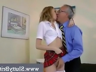 Hot young chicks meets perverted old man