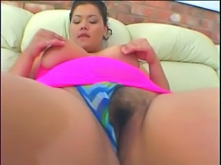 Hairy BBW girl fuck with old man