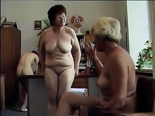 Granny School Polish Wet Panty
