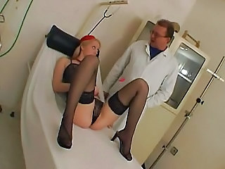 Blond Examined By Gyno.