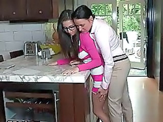 Glasses Kitchen Lesbian Daughter Daughter Ass Daughter Mom