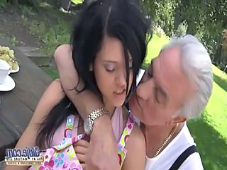 Brunette Old And Young Outdoor Cute Brunette Old And Young Outdoor
