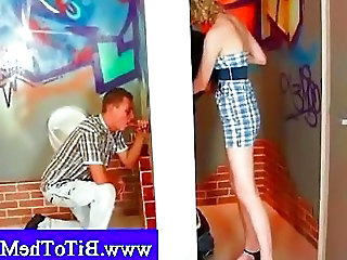 Couple Fulfilling A Gloryhole Fe...