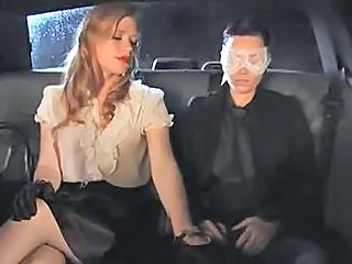 Car Handjob MILF Milf Stockings Stockings