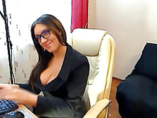Glasses  Office Secretary Czech Milf Ass Milf Office Milf Stockings Office Milf Stockings