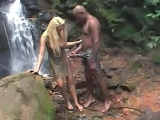 Interracial Outdoor  Big Cock Teen Blonde Teen Interracial Big Cock