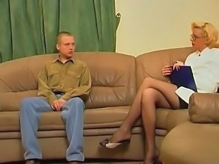 Glasses Legs Blonde Milf Ass Milf Stockings Old And Young