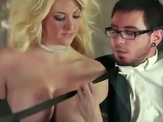 Amazing big tits blonde Courtney Taylor sensual love making