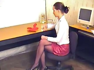 Pantyhose Office Secretary Boss Office Teen Panty Teen