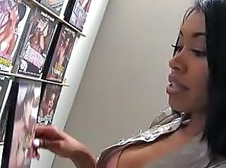Ebony goddess Yasmine De Leon at Gloryhole
