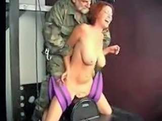 Daddy Machine Army Big Tits Milf Daddy Forced