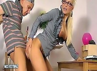 Blonde Clothed Doggystyle Bareback Doggy Ass European