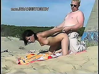 teen sucks stranger at beach