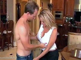 Huge Titted Hot Wife Sucks and Fucks Her Younger Husband