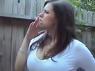 Smoking Outdoor MILF Outdoor Outdoor Busty