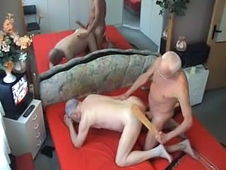 Mature gay fucked and spanked