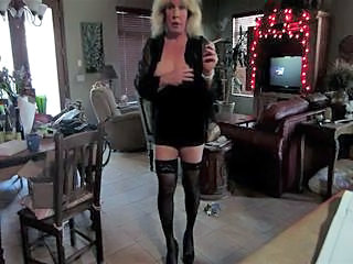 Trans MILF Smoking Seduction
