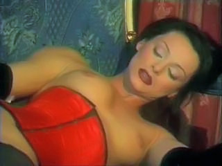italian Milf brunette black stocking