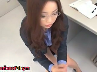 CFNM Pov Glasses Asian Teen Cfnm Handjob Glasses Teen
